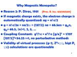 why magnetic monopoles1