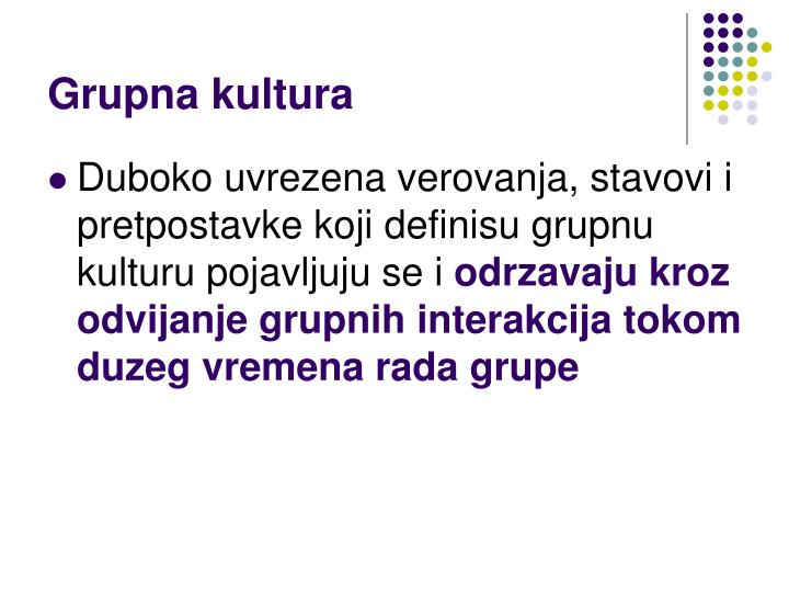 Grupna kultura