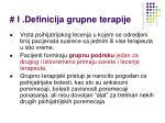 i definicija grupne terapije