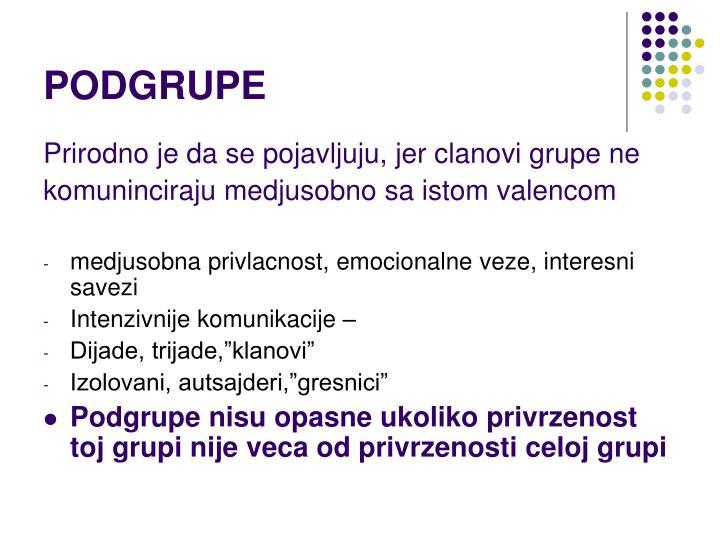 PODGRUPE
