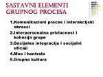 sastavni elementi grupnog procesa
