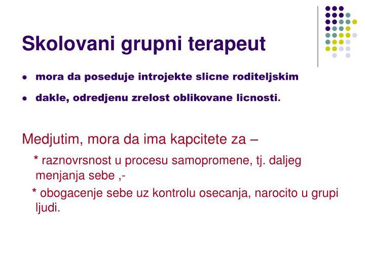 Skolovani grupni terapeut