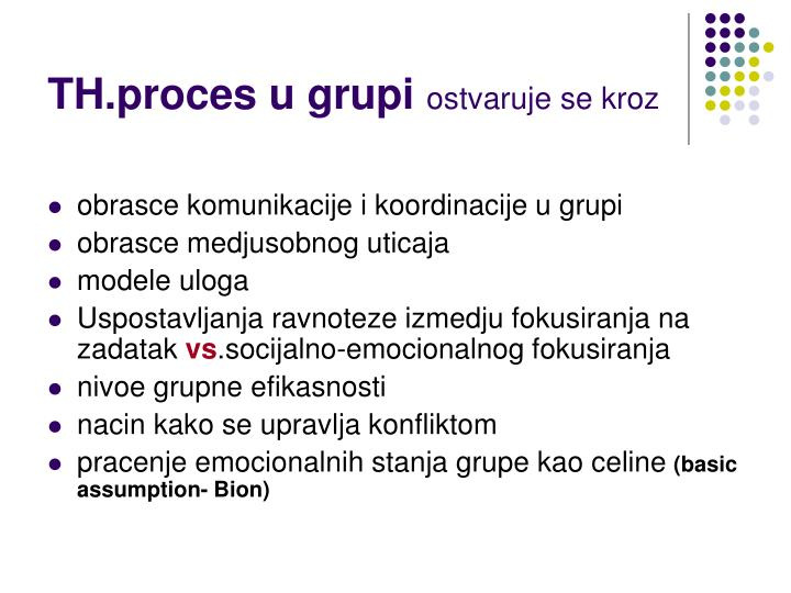 TH.proces u grupi