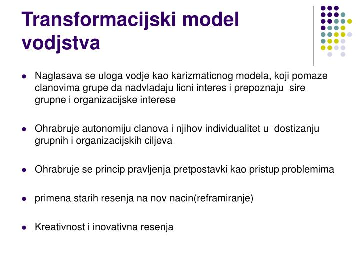 Transformacijski model vodjstva