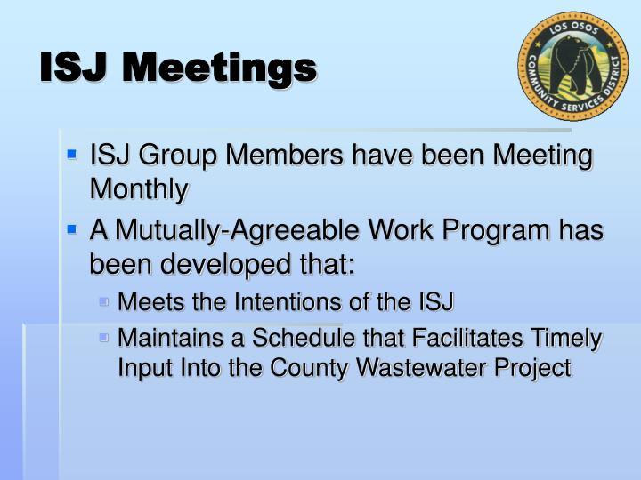 ISJ Meetings