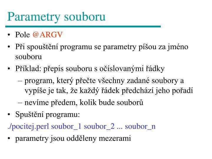Parametry souboru