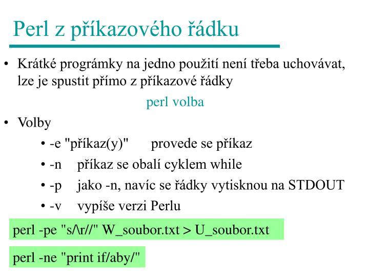 Perl z příkazového řádku