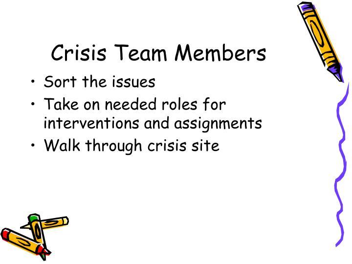 Crisis Team Members