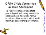 opsa crisis committee mission statement