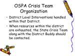 ospa crisis team organization