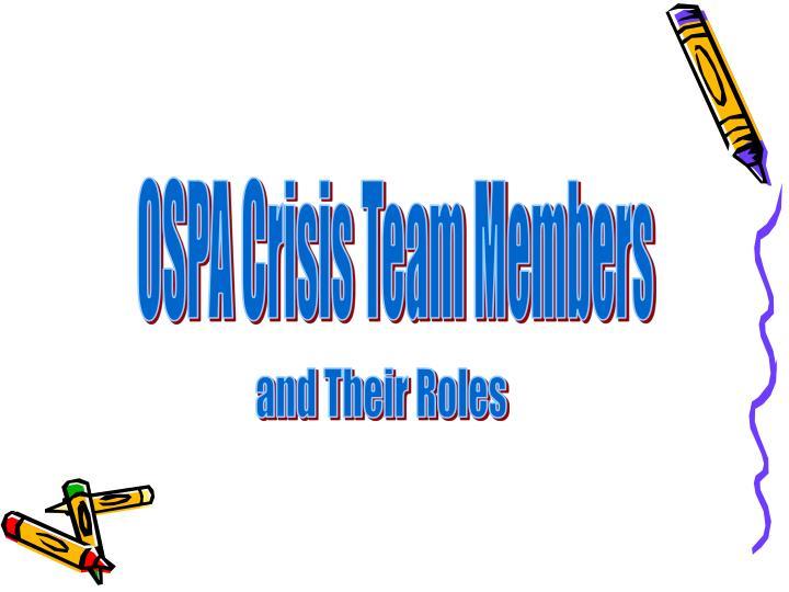 OSPA Crisis Team Members