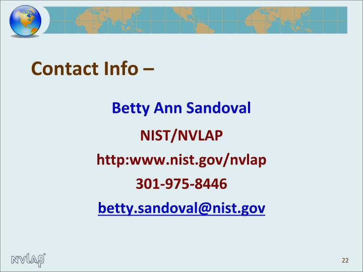 Contact Info –