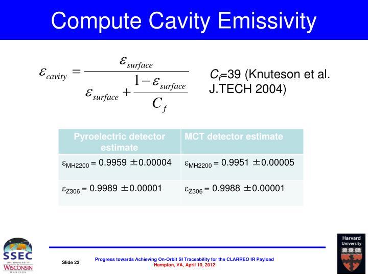 Compute Cavity Emissivity