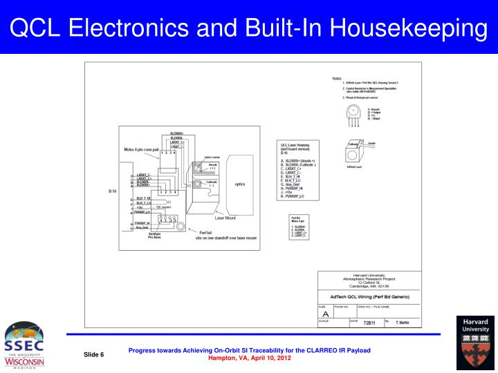 QCL Electronics and Built-In Housekeeping