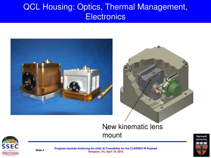 QCL Housing: Optics, Thermal Management, Electronics