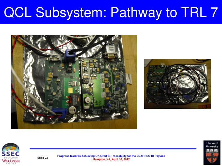 QCL Subsystem: Pathway to TRL 7
