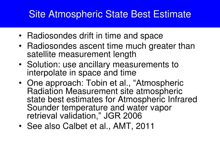 Site Atmospheric State Best Estimate