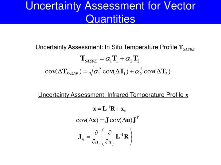 Uncertainty Assessment for Vector Quantities