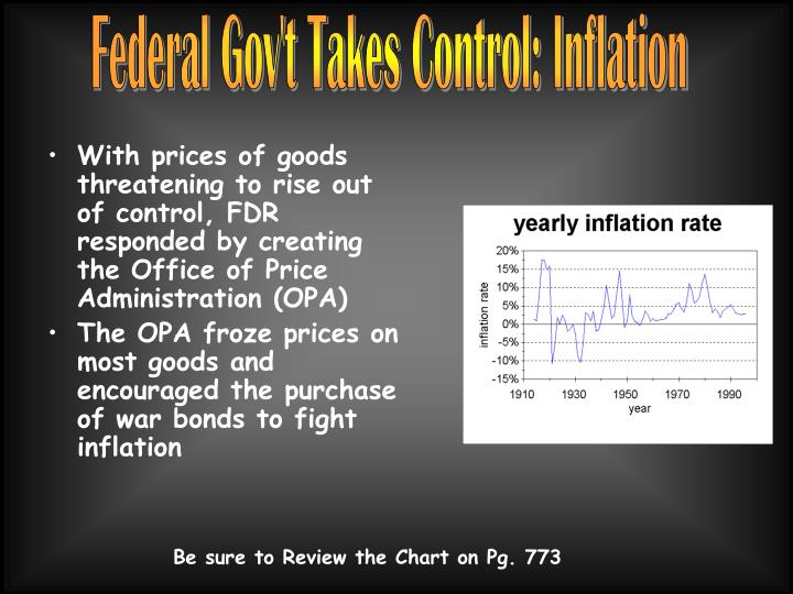 Federal Gov't Takes Control: Inflation