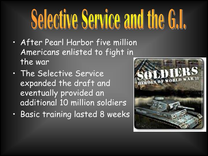 Selective Service and the G.I.