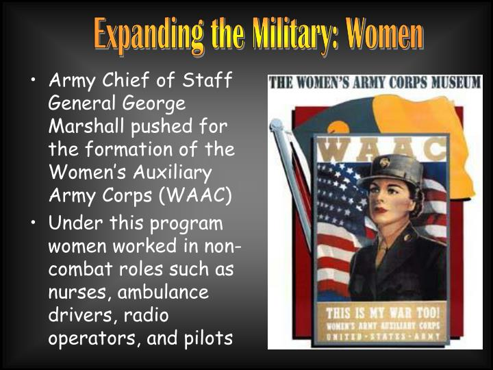 Expanding the Military: Women