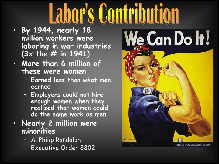 Labor's Contribution