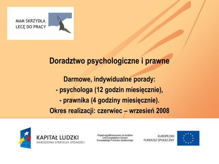 Doradztwo psychologiczne i prawne
