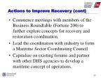 actions to improve recovery cont