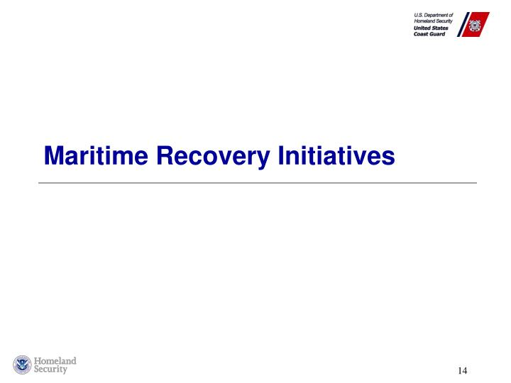 Maritime Recovery Initiatives