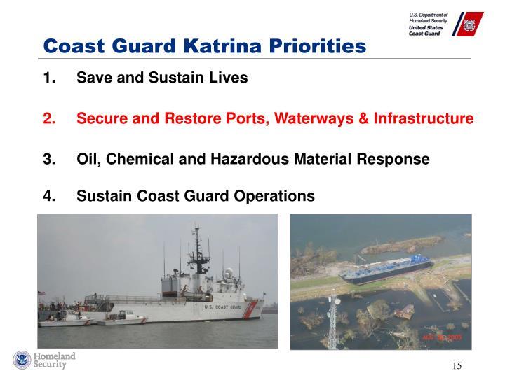 Coast Guard Katrina Priorities
