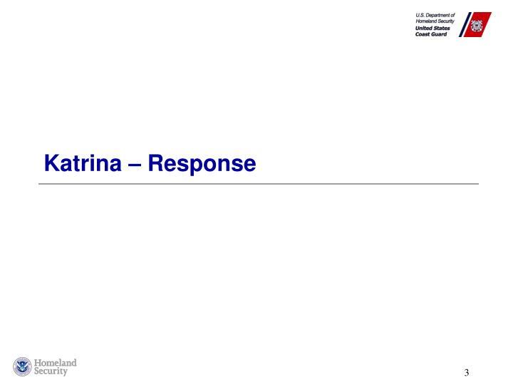 Katrina – Response