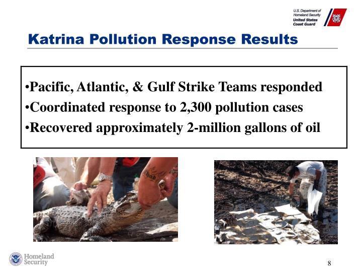 Katrina Pollution Response Results