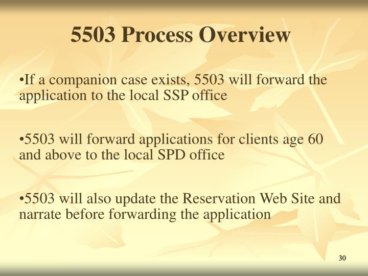 5503 Process Overview