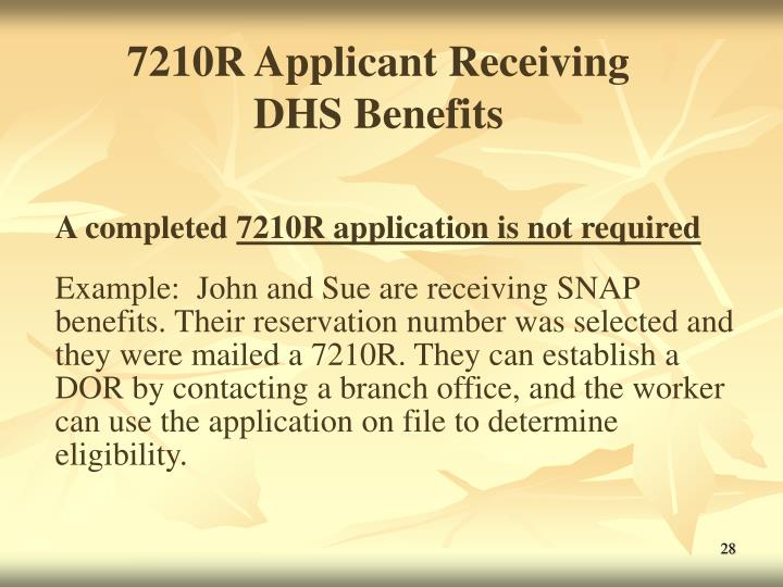 7210R Applicant Receiving