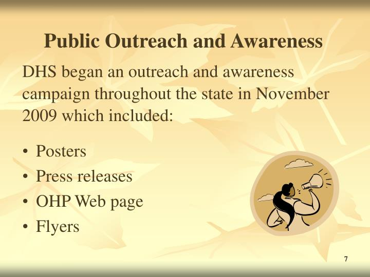 Public Outreach and Awareness