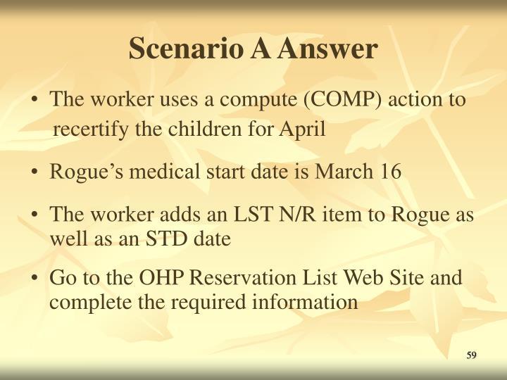 Scenario A Answer