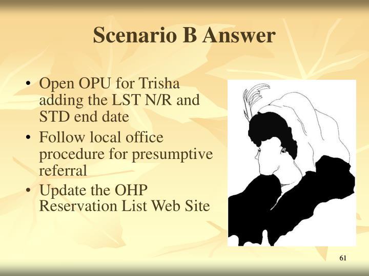 Scenario B Answer