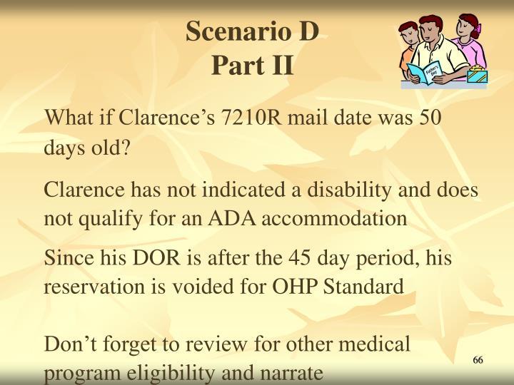 Scenario D