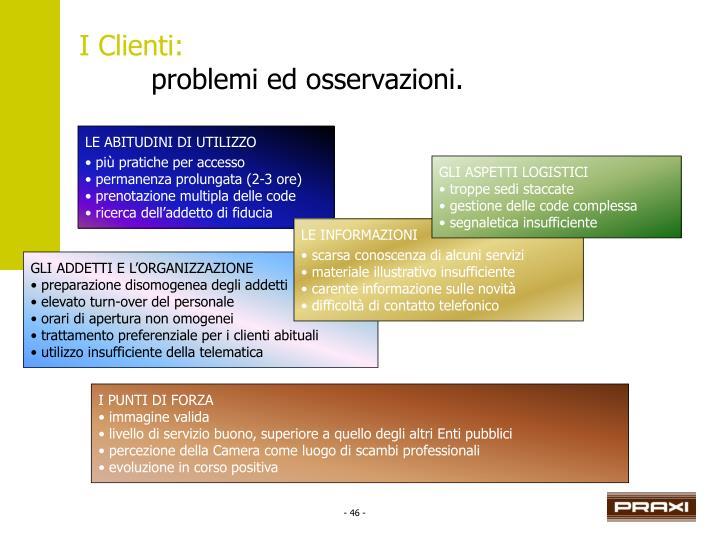 I Clienti: