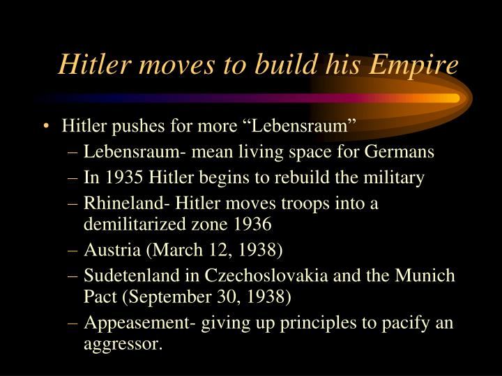 Hitler moves to build his Empire