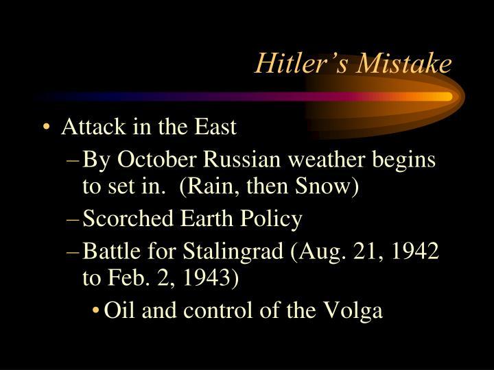 Hitler's Mistake