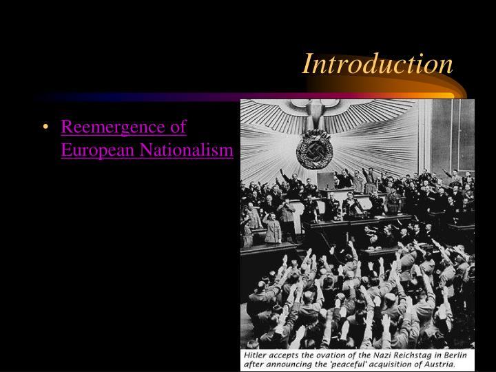 Reemergence of European Nationalism