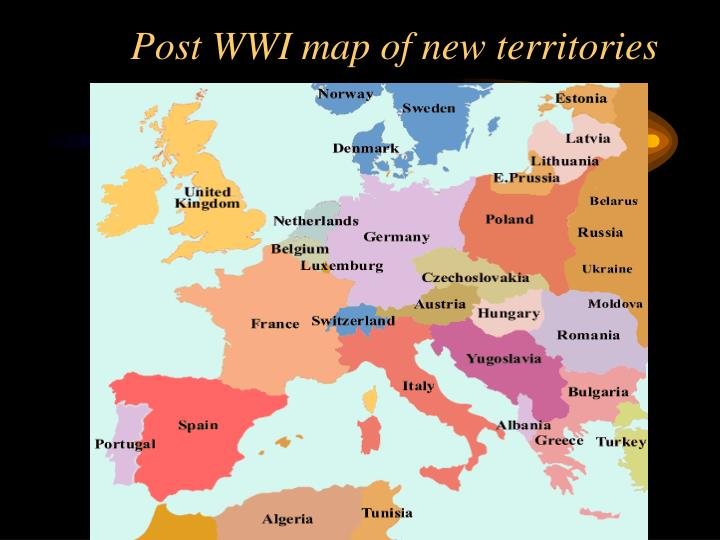 Post WWI map of new territories