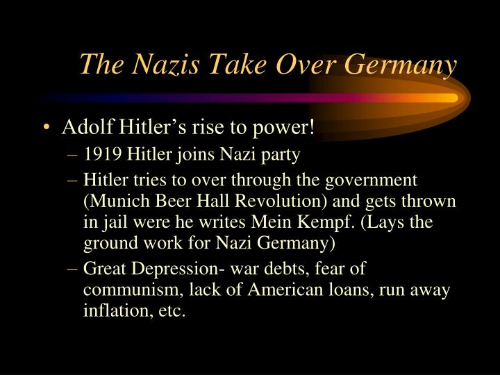 The Nazis Take Over Germany