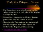world war ii begins german blitz