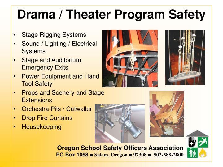 Drama / Theater Program Safety