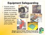 equipment safeguarding
