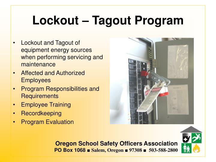 Lockout – Tagout Program