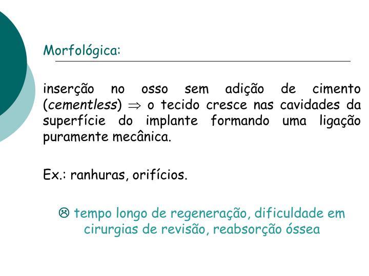 Morfológica: