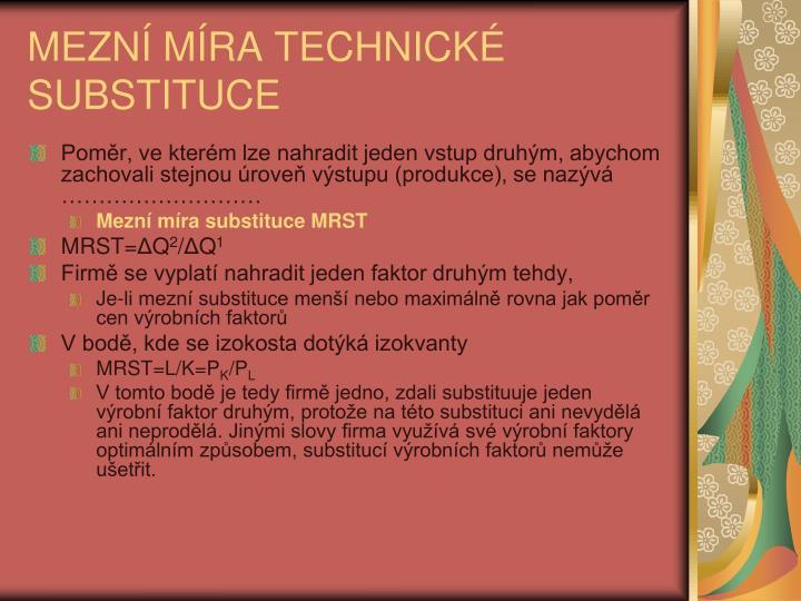 MEZN MRA TECHNICK SUBSTITUCE